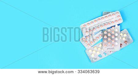 Contraception Methods Concept / Contraception Pills Birth Control Contraceptive Means Prevent Pregna