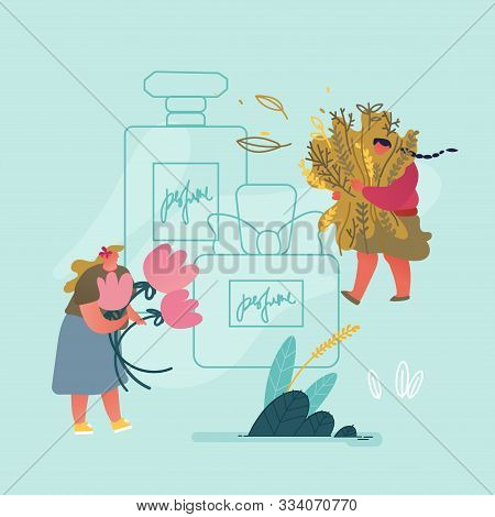 Women Perfumers Collecting Seasoning And Flower Ingredient For Scent Creation Or Herbal Aroma Therap