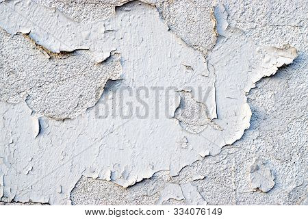 Paint Peel Texture. Grungy Wide Brickwall. Abstract Web Banner.