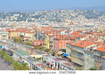 Nice, France. View Of The Old Town In A Sunny Summer Day