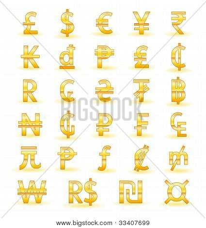 golden currency vector photo free trial bigstock