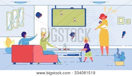 Wife Dissatisfied With Husband, Watching Television With Friend And Neglecting His Domestic Responsi