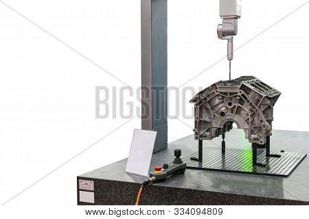 Automatic Coordinate Measurement Machine (cmm) During Inspection Precision & Accuracy Part (body Hea