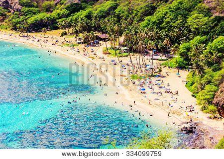 Hanauma Beach In Oahu, Hawaii
