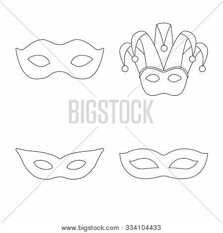 Vector Illustration Of Masquerade And Mystery Icon. Set Of Masquerade And Festival Stock Symbol For