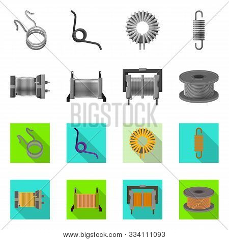 Vector Illustration Of Compression And Torsion Icon. Set Of Compression And Technology Stock Vector