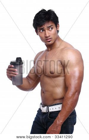 Indian young fitness man