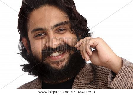 Indian bearded business man