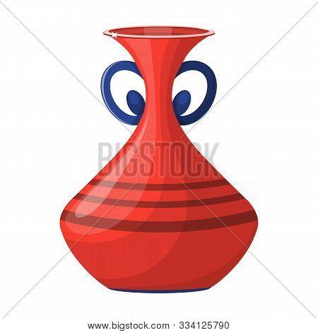 Ceramic Vase Vector Icon.cartoon Vector Icon Isolated On White Background Ceramic Vase .