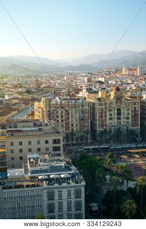 Aerial View Of The Malaga City