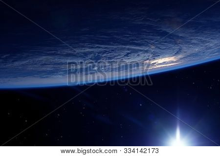 Sunrise On Earth In Space Elements Of This Image Were Furnished By Nasa.