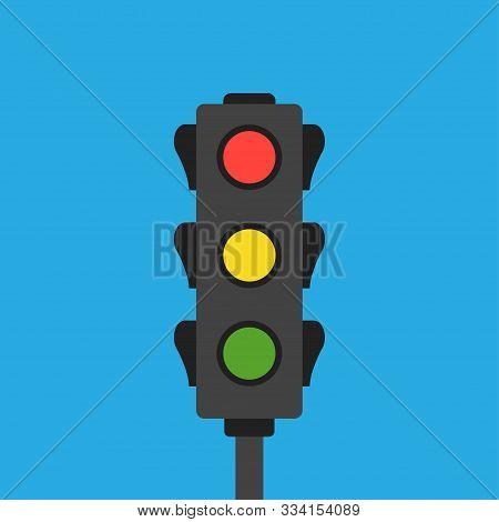 Road Traffic Light Isolated Vector - Semaphore Traffic Illustration Sign. Green Traffic Light. Light