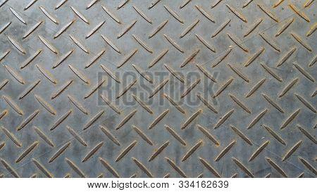 Checker Plate Floor Surface Texture Steel Grip Metal Grating