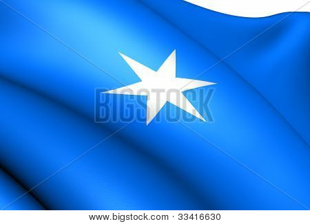 Flag of Steinkjer Norway. Close Up. Front View. poster