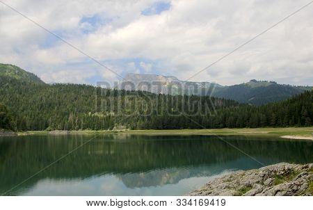 Black Lake, Zablijak, Montenegro. Glacial Lake Located On The Mount Durmitor Within The Durmitor Nat