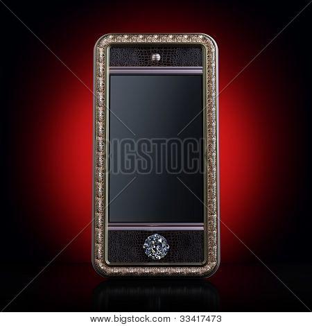 Exclusive golden mobile phone