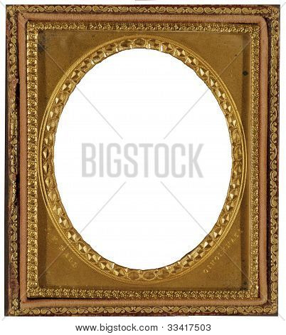 Gold Plated Wooden Oval Picture Frame