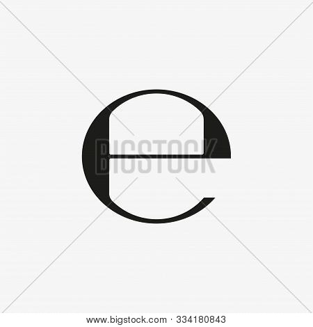 Estimated Sign, E Mark Symbol. Vector Illustration, Flat Design.
