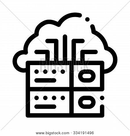Voip Cloud Digital System Icon Vector. Outline Voip Digital System Sign. Isolated Contour Symbol Ill