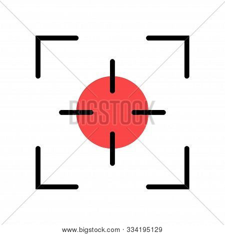 Photo Camera Viewfinder. Isolated Vector Sign Symbol. Screen Photography Frame. Focus Line In Abstra