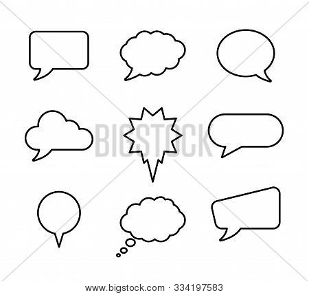 Speech Bubble Set For Banner Design. Speech Bubble Set Vector Illustration. Speech Bubble Icon Dialo