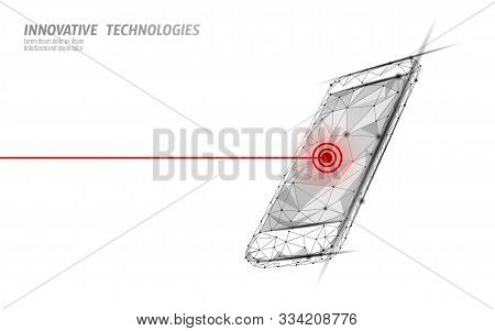 Fatal Mobile Smartphone Broken Screen. Software Error Bug Data Lost. Phone Service Repair Help Busin