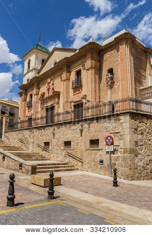 Historic Santiago Church In The Center Of Lorca, Spain