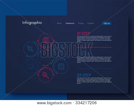 Vector Graphics Infographics With Six Options. Template For Creating Mobile Applications, Workflow L