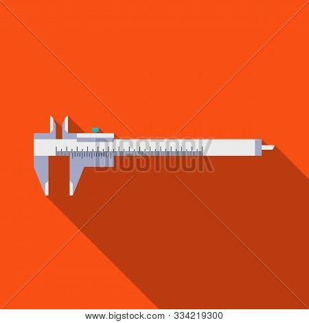 Vector Design Of Calliper And Vernier Icon. Graphic Of Calliper And Caliper Stock Symbol For Web.