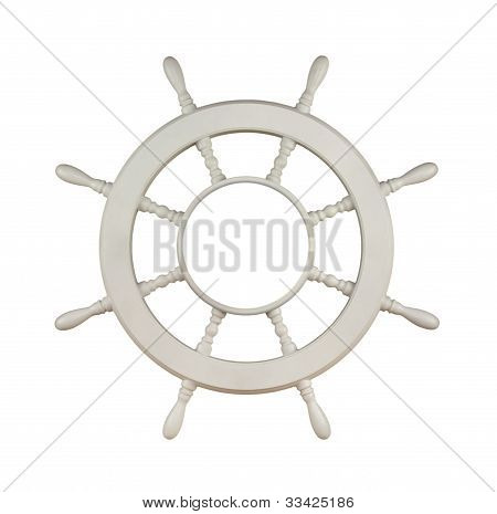 Wooden Sail Boat Wheel