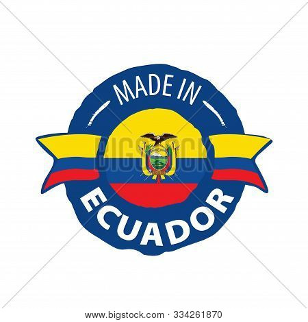 Ecuador Flag, Vector Illustration On A White Background