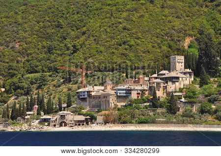 Athos - Holy Mountain In Greece With Ancient Monasteries