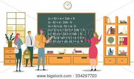 University Education And Academic School Or College Knowledges. Students And University Teachers Sci