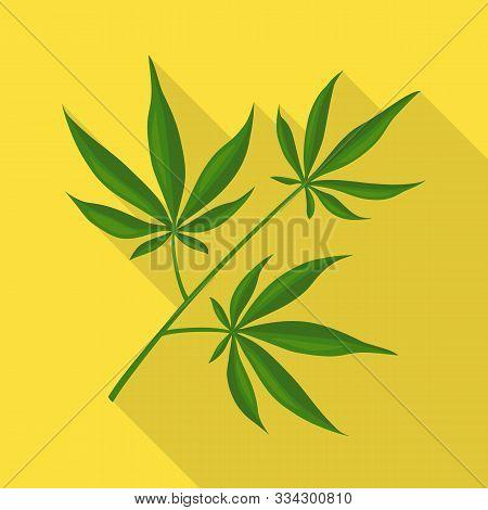 Vector Design Of Marijuana And Leaf Symbol. Web Element Of Marijuana And Vegetation Vector Icon For
