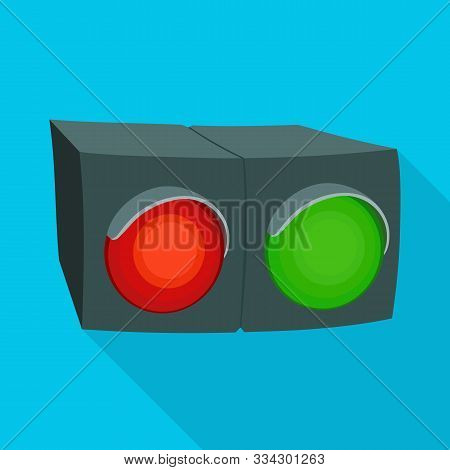 Isolated Object Of Stoplight And Signal Icon. Graphic Of Stoplight And Lamp Stock Vector Illustratio