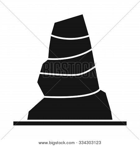 Isolated Object Of Road And Cone Sign. Web Element Of Road And Rumpled Vector Icon For Stock.