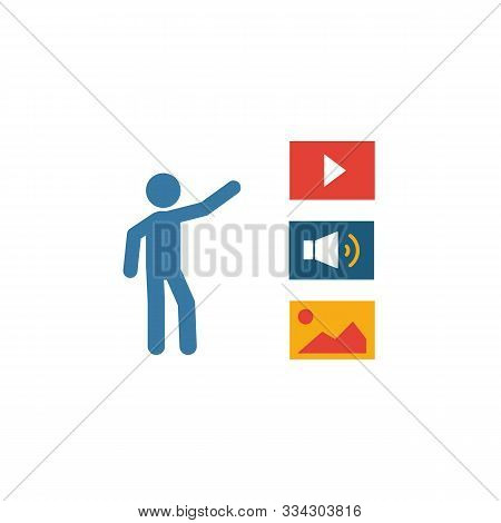 Curation Icon. Simple Flat Element From Content Collection. Creative Curation Icon For Templates, So