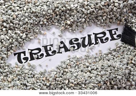 Treasure Word Series on white background with paintbursh poster