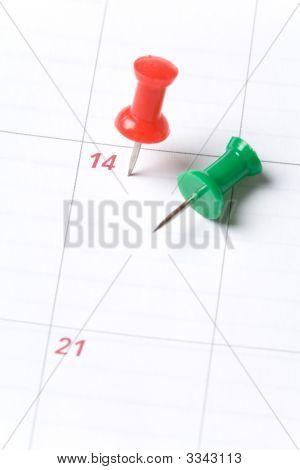 Calendar And Thumbtack