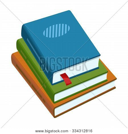 Stack Of Books Vector Icon.cartoon Vector Icon Isolated On White Background Stack Of Books .