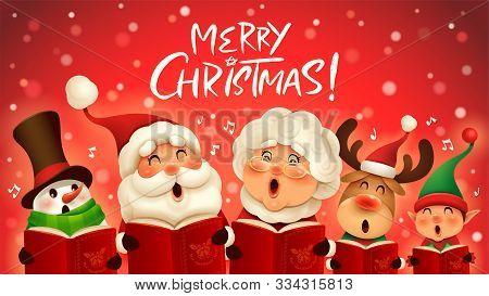 Merry Christmas! Christmas Companions Singing Carol. Choir.