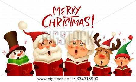 Merry Christmas! Christmas Companions Carol Singing. Choir.