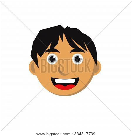 Smiling Faces Characters Isolated Vector Illustration. Eps 10