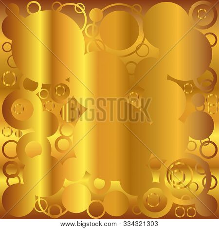 A Background Of Retrograde Circlesover A Golden Background.