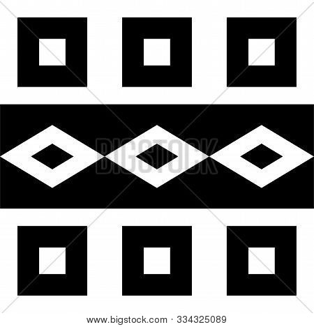 Geometrical Seamless Counting Jacquard Embroidery Or Knitting Scheme Motif Pattern Background, Isola