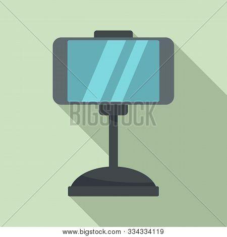 Smartphone Car Holder Icon. Flat Illustration Of Smartphone Car Holder Vector Icon For Web Design