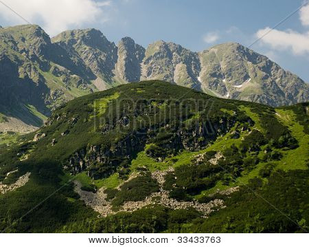 Panorama of the peaks in the Western Tatras (Rohace) poster