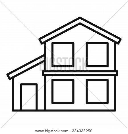 Facade Cottage Icon. Outline Facade Cottage Vector Icon For Web Design Isolated On White Background