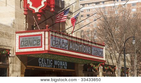 Theater Sign For Dance Auditions