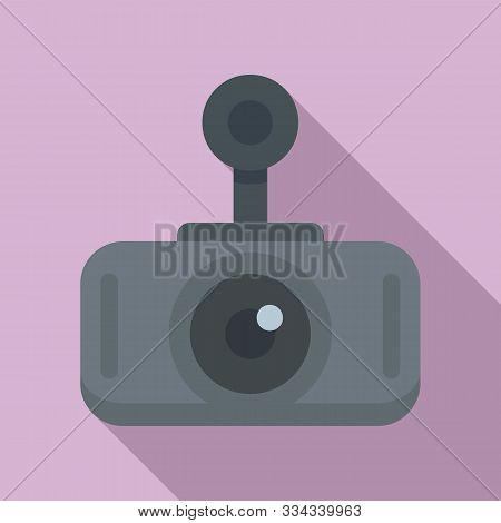 Modern Car Recorder Icon. Flat Illustration Of Modern Car Recorder Vector Icon For Web Design